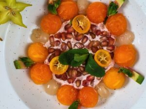 ensalada de frutas tropicales